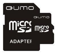 Флеш карта SecureDigital 8192MB QUMO MicroSDHC Class 4 + адаптер